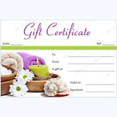 12 best spa and saloon gift certificate templates images gift