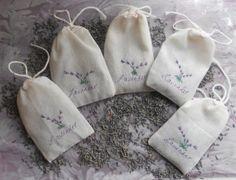 Lavender Sachets  Lavender Wedding Favors   by Twenty3Design