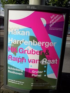 Dutch typographic poster