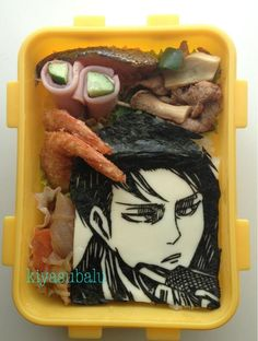 What if your mom made your lunch like this? (I would die.) SNK Levi bento