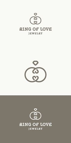 Ring Of Love - Jewelry Logo. Wedding Fonts