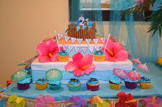 Tropical cake & cupcakes! Rio Movie Theme.
