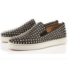 Mens Christian Louboutin Roller Boat Flat Sneakers-Discount mens,Cheap Louboutins,Red Bottoms