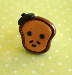 Kawaii French Toast Polymer Clay Ring Clay by PumpkinPyeBoutique, $15.00