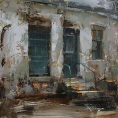 The Geen Door II by Tibor Nagy Oil ~ 15,7 x 15,7