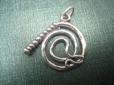925 Sterling Silver WESTERN COWBOY BULL WHIP Charm Pendant open Jump Ring
