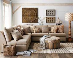 ideen-wohnzimmer-landhausstil-creme-wandfarbe-gruene-akzente, Deko ideen