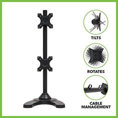 This #ergonomic LCD Monitor Stand makes is easy to use multiple monitors at the same time. Improve #your productivity with this stand by managing multiple program...