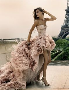 Ohh the pink!! Amazing #dress.