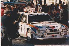 ra RALLY MONTECARLO 18-24 GENNAIO 1986 FRANCIA - HENRI TOIVONEN - SERGIO CRESTO LANCIA DELTA S4 MARTINI.