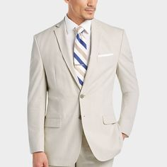165495fee9aa Calvin Klein Tan & White Pin Cord Slim Fit Suit - Men's Suits | Men's  Wearhouse