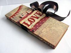 Еще одна шоколадница в подарок мужчине ко Дню св. Валентина.  Очень красивая бумага от MME, такая вся валентинистая :)