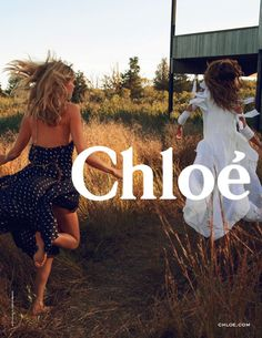 Chloé SS 2014 - Lou Doillon and Julia Stegner running freely http://www.maxitendance.com/2014/01/chloe-printemps-ete-2014-campagne-lou-doillon.html l #fashion #video