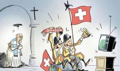 Vignetta straordinaria mondiali Argentina Svizzera!