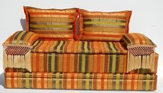Moroccan sofa bed. Transform your space into a rocking casbah with this moroccan sofa, great quality fabric. One of the most popular theme. Moroccan design combines the best of moorish and european influences to form a beautiful union of architecture and style. $1150.00