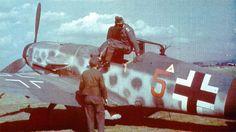 Bf 109G10 2.JG300 (Red 5+) Borkheide Airfield Germany 1944-01.