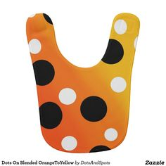 Dots On Blended OrangeToYellow Bibs  http://www.zazzle.com/dots_on_blended_orangetoyellow_bibs-256727962882686698?rf=238588924226571373