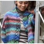 Noro Obi Cabled Jacket - Free Knitting Pattern