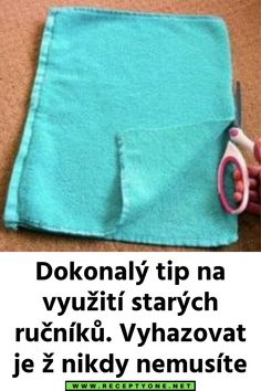 Dokonalý tip na využití starých ručníků. Vyhazovat je ž nikdy nemusíte Lany, Pot Holders, Hot Pads, Potholders