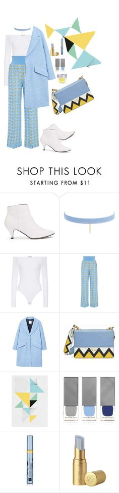 """""""#outofmycomfortzone#inspirationStyle"""" by anjastrukar-1 ❤ liked on Polyvore featuring Miss Selfridge, Jules Smith, ATM by Anthony Thomas Melillo, Pepa Pombo, MANGO, Prada, Dowse, Burberry, Estée Lauder and Too Faced Cosmetics"""