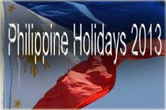 2013 Philippine holidays now out