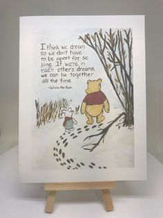 miss you Winnie the Pooh thinking of you, warm thoughts card Pooh and Piglet Winnie the Pooh and piglet being together card, classic pooh miss you card, pooh dream quote card by MoonbeamsBearDreams on Etsy Piglet Winnie The Pooh, Winnie The Pooh Nursery, Winnie The Pooh Quotes, Winnie The Pooh Friends, Pooh Bear, Piglet Quotes, Eeyore, Winnie The Pooh Thinking, Missing You Quotes For Him