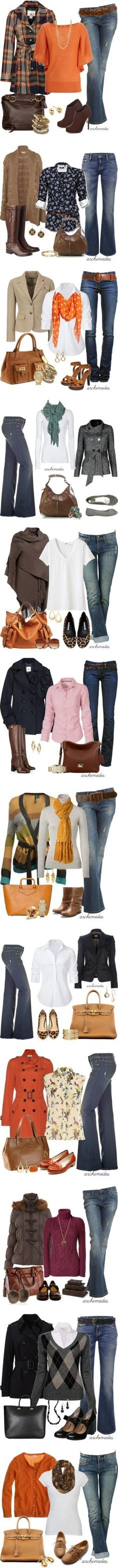 dd93f02e909d Dressed for Fall. Love all the looks with jeans.now to find non mom jeans! Cathleen  Warren McElligott · Ideas - My Style