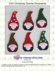 Plastic Canvas Ornaments, Plastic Canvas Christmas, Plastic Canvas Crafts, Fun Christmas Games, Christmas Crafts, Christmas Ornaments, Plastic Canvas Stitches, Plastic Canvas Patterns, Gnome Ornaments