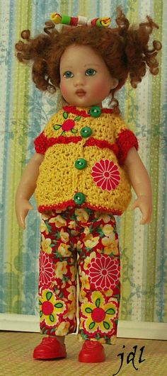 "Riley Kish 7.5"" Doll Artist Helen Kish Doll Clothes by jdldollclothes.com"