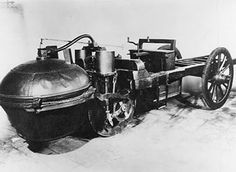 The Automobile (1769) The first car was invented about 150 years earlier by a French military engineer. Nicolas-Joseph Cugnot developed a steam-powered vehicle for transporting heavy artillery. His prototype was tossed aside due to design flaws, but is considered the world's first car.