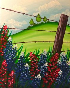 Pinot's Palette - Sugar Land Painting Library - Texa Wild Flowers