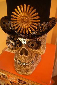 Check out these simple and inventive ways to create DIY Steampunk Halloween Decorations by Lynn Ferris of Holiday Décor & More. See it all on The Home Depot Blog. || @hdandm