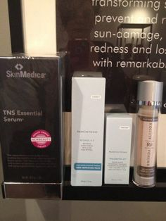 With 25 years experience as an esthetician, I am often asked how to get the best results for firming skin.  It is all in the product! Introducing four of my faves! TNS SkinMedica Phloretin CF Skincueticlas AntiOxidant Complex Ronda Allison Retinol .5 Skincueticlas Visit thedermatory.com for daily specials and Free shipping.