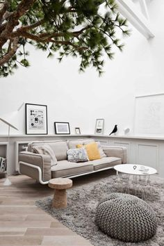 See this amazing Paris apartment with a complete tree - Daily Dream Decor