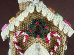 This is the third in a series of 24 linked patterns, published daily in December 2014, to decorate a knitted Gingerbread House. The pattern for the house itself is published separately.