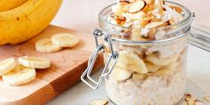 Looking for easy breakfast ideas? Check out Meal Gardens easy meal prepping plan. Receive hundreds of recipies! Oatmeal In A Jar, Low Carb Protein, Healthy Carbs, Oats Recipes, Gourmet Recipes, Recipies, Vegan Recipes, Banana Nut, Creamy Peanut Butter