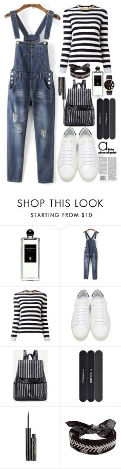 """""""Lovely  jumpsuits"""" by erohina-d ❤ liked on Polyvore featuring beauty, Serge Lutens, WithChic, Gucci, Yves Saint Laurent, MAC Cosmetics, Elizabeth Arden and Fallon"""