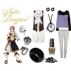 """""""Natsu Dragneel"""" by casualanime on Polyvore"""