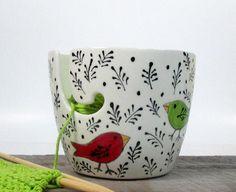 Yarn Bowl Pottery Ceramic  Knitting bowl Crochet bowl Knitter