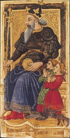 L'Empereur, Tarot dit de Charles VI, fin du XVe siècle, Italie du Nord