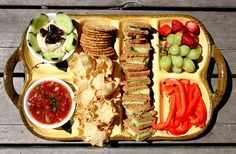 Healthy snack platter:  + picnics  + beach outings  + backyard party