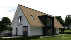 Schuurwoning Met Rieten Kap in Roosendaal Bungalow Extensions, Villa, Beautiful Homes, Shed, New Homes, Bungalows, Outdoor Structures, Exterior, House Design