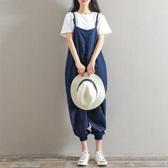 jumpsuits yellow blue Cheap Jumpsuits, Buy Directly from China Suppliers:Casual denim Jumpsuits Female Strapless Pockets Long Petal Leg Trouser Womens Summer overalls Boho Beach Loose Cami rompers 2018 jumpsuits jeans for women plus size Harem Trousers, Denim Jumpsuit, Overalls, Backless Playsuit, Jumpsuit With Sleeves, Sexy Jeans, Playsuits, Types Of Fashion Styles, Jumpsuits For Women