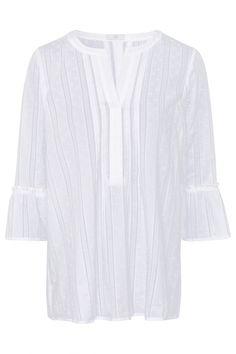 Riani transparente Damen Bluse Weiss   SAILERstyle Blazer, Tunic Tops, Sweaters, Women, Fashion, See Through, Fashion Women, Clothing, Cotton