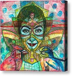 Animals Mixed Media Canvas Prints - She Thought She Was Small and Trapped but She Was Not Canvas Print by Elizabeth D