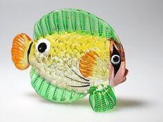 Aquarium Craft Collectible MINIATURE HAND BLOWN GLASS Fish FIGURINE # 63