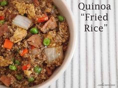 "Quinoa ""Fried Rice"" Recipe #takeyourplace"