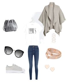 """Casual fall"" by jmcarolina on Polyvore featuring moda, J Brand, Burberry, adidas, Dolce&Gabbana, Mia Sarine, Tory Burch y Ted Baker"