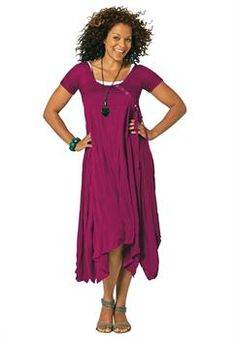 d5908a70621 Plus Size Asymmetrical Hem Dress! I LOVE BEING PLUS SIZED! SO CURVY WITH  HUGE