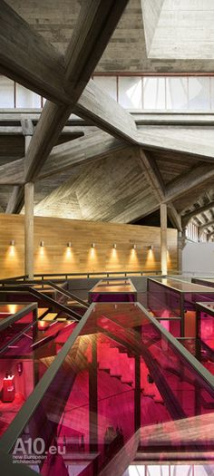 Olarra's Winery Center By IA Arkitektura Amazing Architecture, Architecture Details, Interior Architecture, Interior And Exterior, Interior Design, Commercial Design, Commercial Interiors, Concrete Texture, Colourful Buildings